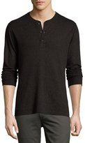 Billy Reid Harper Henley T-Shirt, Black