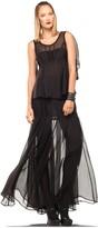 Max Studio Chiffon Pleated Long Skirt