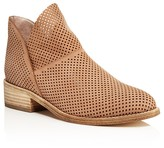 Eileen Fisher Leaf Perforated Nubuck Leather Booties
