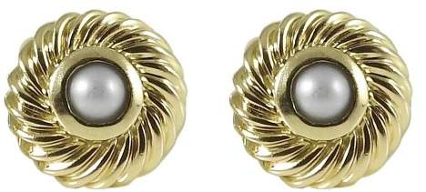 David Yurman 18K Yellow Gold Color Classics Pearl Cookie Earrings