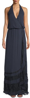 Haute Hippie Wrap Maxi Dress
