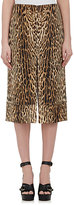 Chloé WOMEN'S LEOPARD-PRINT COTTON-BLEND SKIRT