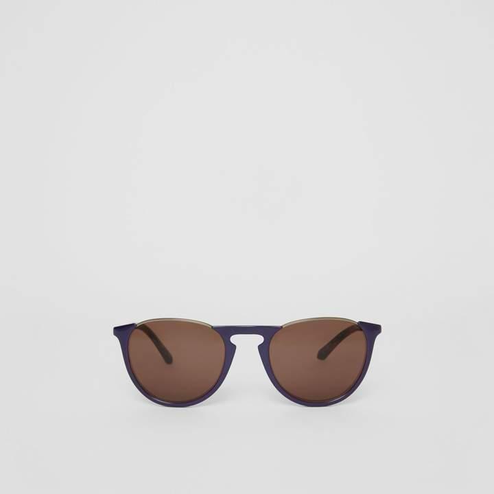 Burberry Keyhole Pilot Round Frame Sunglasses