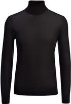 Light Merinos Roll Neck Sweater In Black
