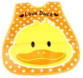 Panda Superstore Lovely Smile Duck Adjustable Waterproof PVC Baby Bib Pocket Protect Bib 45*28CM