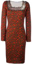 Blumarine neon animal print dress - women - Virgin Wool - 42