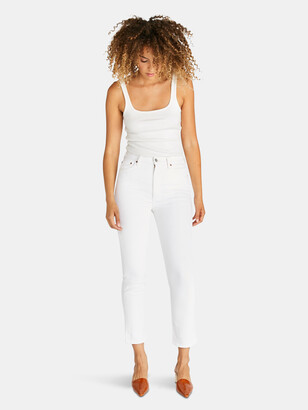 ÉTICA Finn High Rise Straight Ankle - Sustainable White