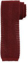 Peter Millar Silk Knit Contrast Tie, Red
