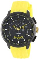 Versus By Versace Men's SGV040013 Manhattan Black Ion-Plated Stainless Steel Chronograph Tachymeter Date Watch