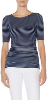 The Limited OBR Ruched Stripe Tee