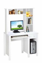 Inyo Computer Desk with Hutch Winston Porter Color: Light Cherry