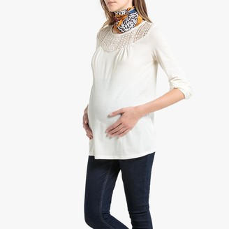 La Redoute Collections Cotton Mix Maternity T-Shirt in Lace