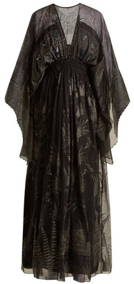 Zandra Rhodes Summer Collection The 1973 Field Of Lilies Gown - Womens - Black