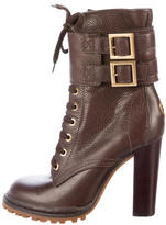Tory Burch Leather Lace-Up Ankle Boots