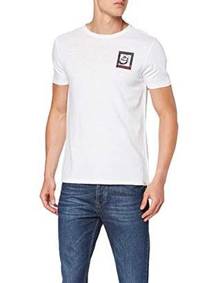 Scotch & Soda Men's Brutus AMS Blauw Colab Tee with Chest Artwork T-Shirt, (