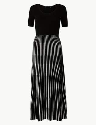 M&S CollectionMarks and Spencer Ribbed Striped Knitted Dress