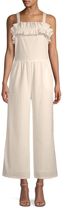 Lucca Couture Lucca Gia Linen-Blend Jumpsuit