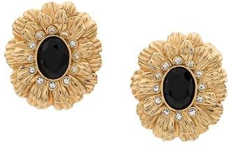 Susan Caplan Vintage 1980s Kenneth Jay Lane flower earrings