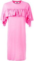 MSGM ruffled trim dress - women - Cotton/Polyester - M