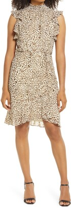 Sam Edelman High Neck Sleeveless Smocked Dress