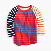 J.Crew Boys' three-quarter sleeve baseball T-shirt in mash-up