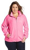 Columbia Women's Big Tested Tough In Pink Benton Springs Full Zip Jacket