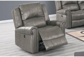 Red Barrel Studio Lori Power Recliner Upholstery Color: Antique Gray