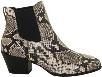 Hogan Womens Texan Ankle Boots