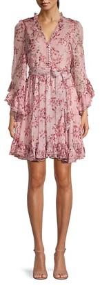 Stellah Floral Ruffle Dress