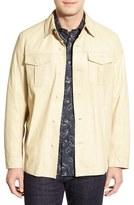 Men's Missani Le Collezioni Leather Shirt Jacket