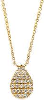 Diane Kordas Yellow Gold White Diamond Teardrop Necklace