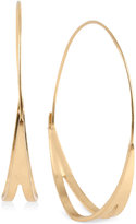 Kenneth Cole New York Gold-Tone Cut-Out Hoop Earrings