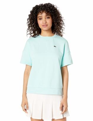 Lacoste Women's Short Sleeve Fleece Crewneck Sweatshirt