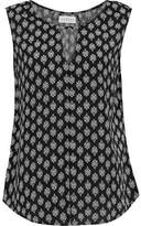 Velvet by Graham & Spencer Cutout Printed Crepe Top