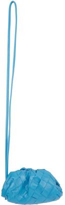 Bottega Veneta Blue Intrecciato Mini Charm Clutch