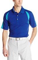 PGA TOUR Men's Golf Airflux Color-Block Short-Sleeve Polo Shirt