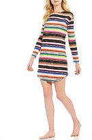 Lauren Ralph Lauren Striped Slub Jersey Sleepshirt