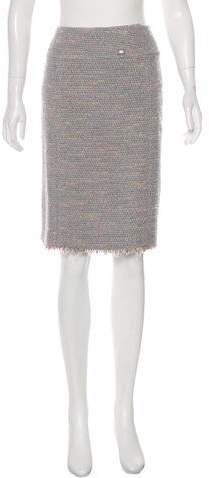 Chanel Metallic Bouclé Skirt
