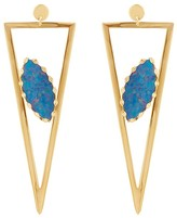 Lana 14K Yellow Gold Monte Carlo Earrings with Opal