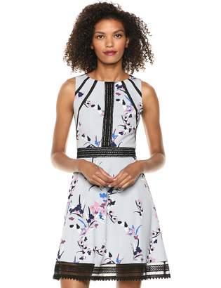 GUESS Women's Floral Print Knee-Length Cocktail Dress