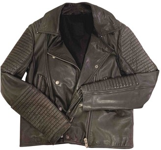 Just Female Black Leather Leather Jacket for Women