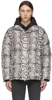 Wacko Maria White and Black Down Python Jacket