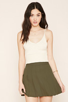 Forever 21 FOREVER 21+ Pleated Mini Skirt