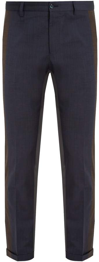 Dolce & Gabbana Tri-colour tapered-leg trousers