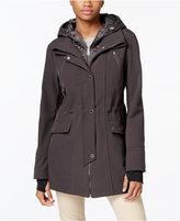 Nautica Quilted Hooded Layered Anorak Raincoat