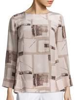 Piazza Sempione Silk Printed Tunic