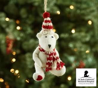 Pottery Barn St. Jude Felt Teddy Bear Ornament