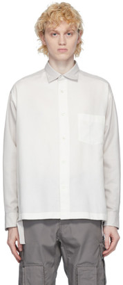 N.Hoolywood White Side Slit Shirt