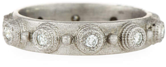 Armenta New World White Diamond Stacking Ring, Size 6.5