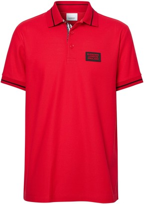 Burberry Logo Applique Polo Shirt